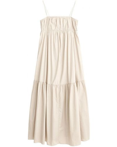 Beżowa sukienka na lato By Malene Birger