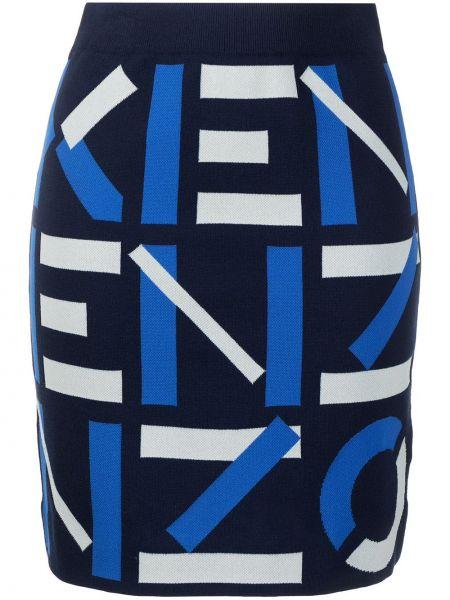 Трикотажная черная юбка с поясом Kenzo