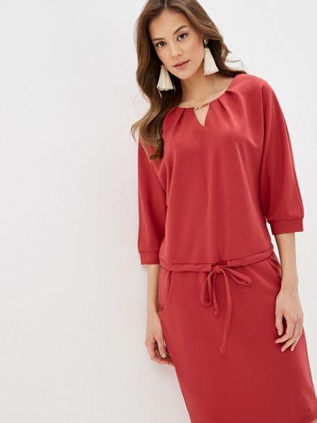 Повседневное платье розовое осеннее Sezoni