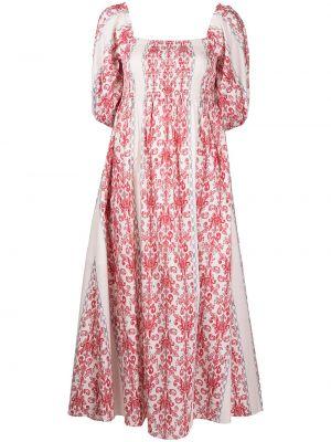 Biała sukienka z printem Sachin & Babi