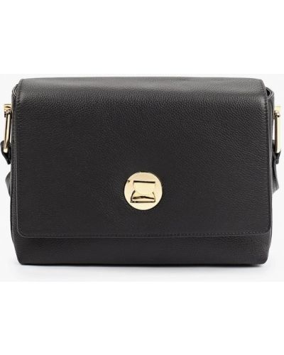 Кожаная сумка через плечо - черная Fabretti