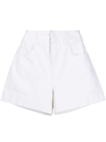 Białe szorty z wysokim stanem bawełniane Sandro Paris