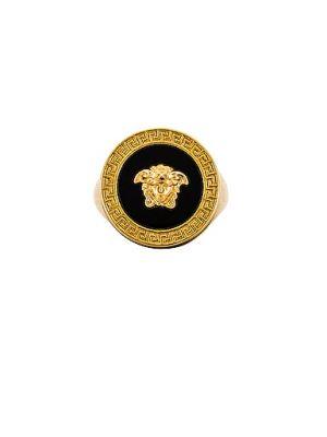 Домашнее кольцо золотое Versace