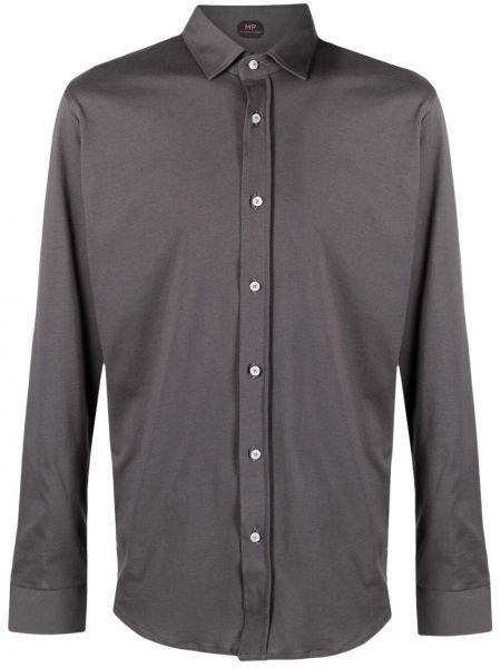 Klasyczna klasyczna koszula bawełniana z długimi rękawami Mp Massimo Piombo