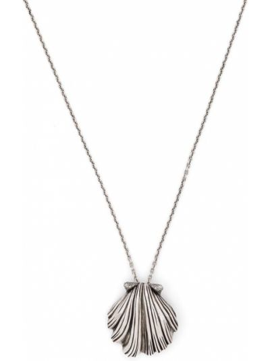 Серебряное ожерелье с подвесками металлическое Saint Laurent