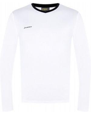 Футбольная белая спортивная приталенная футболка Demix