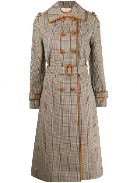 Długi płaszcz klasyczny z kołnierzem Tory Burch