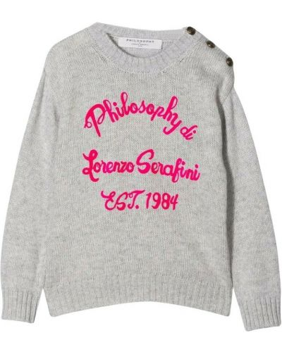 Szary sweter Philosophy Di Lorenzo Serafini