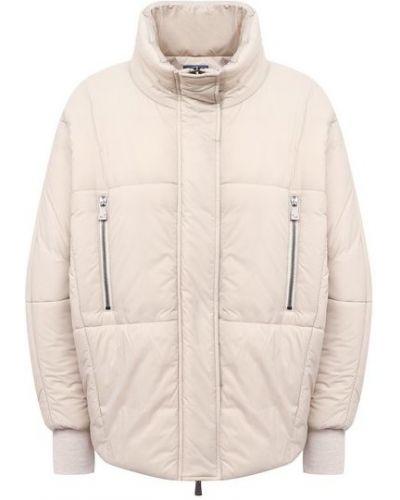 Бежевая утепленная куртка с воротником Jacob Cohen