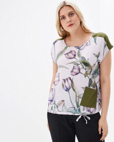 Блузка с коротким рукавом белая весенний Kontaly