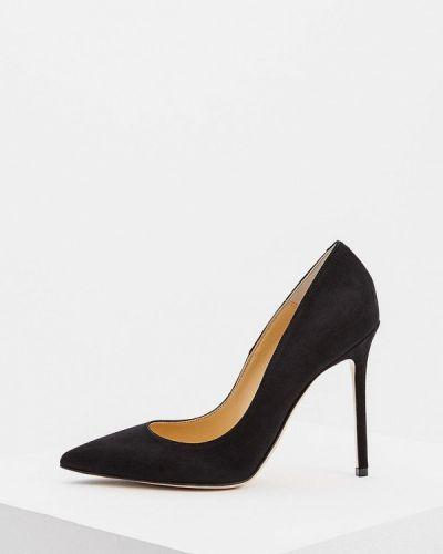Туфли на каблуке черные замшевые Nando Muzi