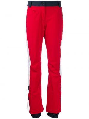 Прямые красные горнолыжные брюки с воротником с карманами Rossignol