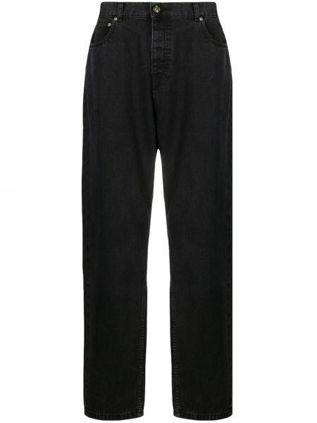 Prosto czarny bawełna klasyczny jeansy z kieszeniami Tom Wood