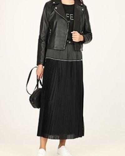 Черная кожаная куртка Liu Jo