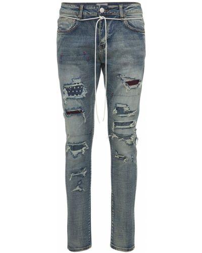 Niebieskie jeansy bawełniane Lifted Anchors