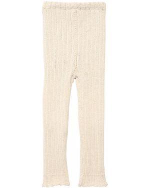 Białe legginsy Oeuf
