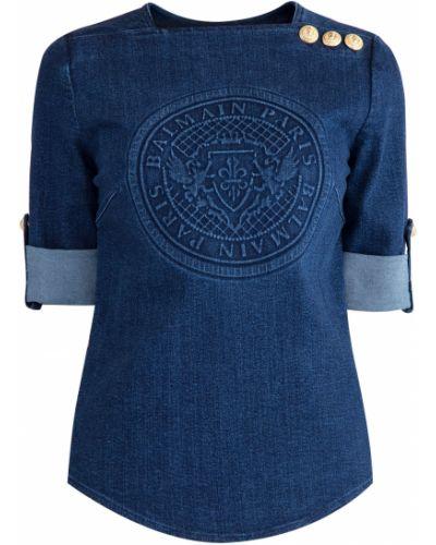 Блузка винтажная на пуговицах Balmain