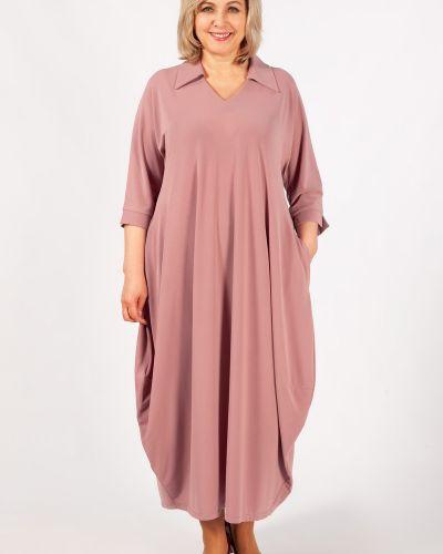 Свободное трикотажное платье бохо милада