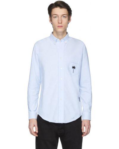 Bawełna bawełna z rękawami czarny koszula oxford Palm Angels