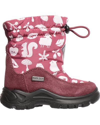 Розовые сапоги замшевые Naturino