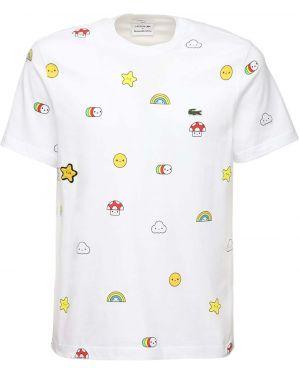 Koszula z nadrukiem z łatami Lacoste