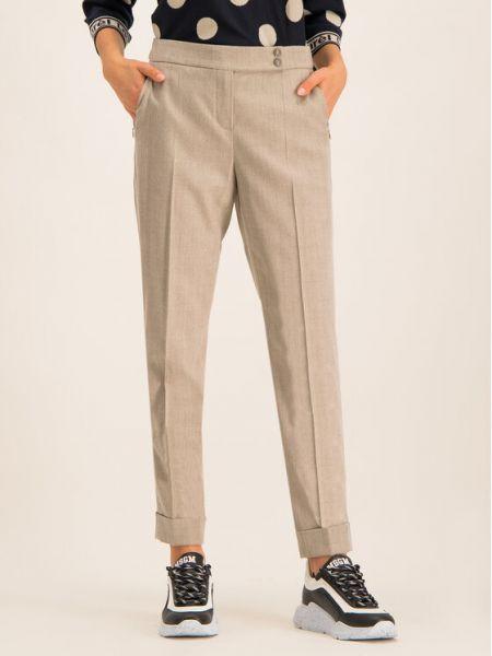 Beżowe spodnie materiałowe Laurel