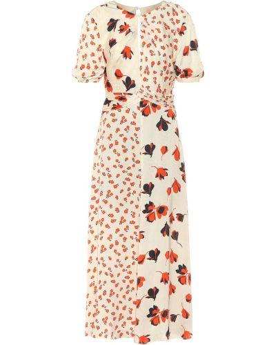 Платье с цветочным принтом из вискозы Self-portrait