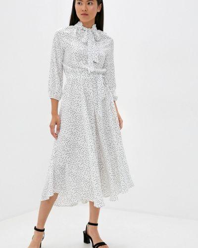Белое прямое платье Imocean
