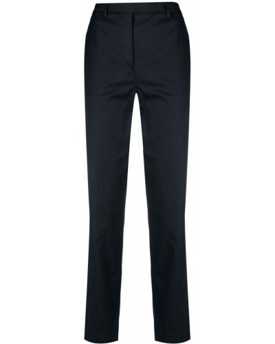 Хлопковые синие брюки с потайной застежкой Lardini
