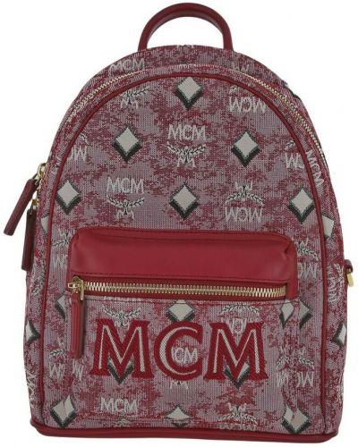 Czerwony plecak Mcm