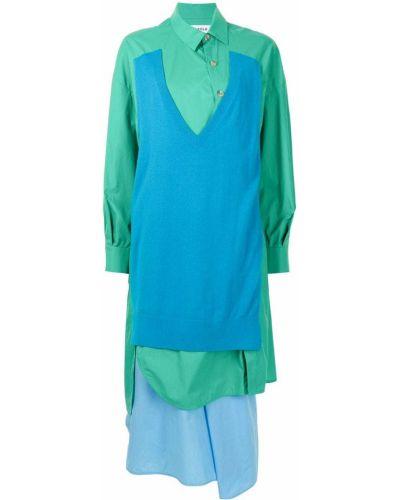 Sukienka midi zapinane na guziki - niebieska Enfold