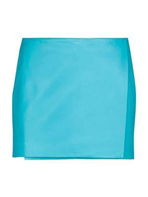 Niebieska spódnica skórzana Dodo Bar Or