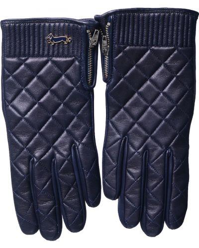 Кожаные перчатки синий Harmont&blaine