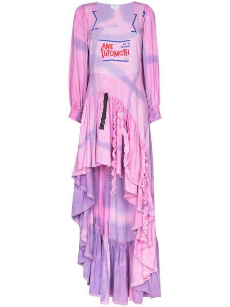 Sukienka wieczorowa - różowa Collina Strada