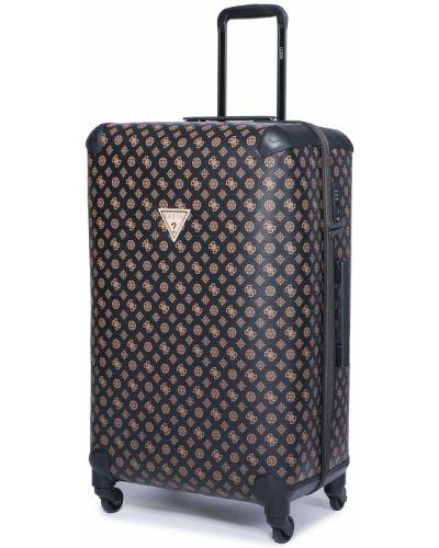 Brązowa walizka duża Guess