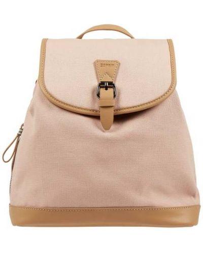Plecak bawełniany - różowy Esprit
