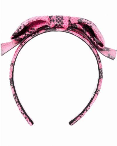 Różowe opaska do włosów Alessandra Rich