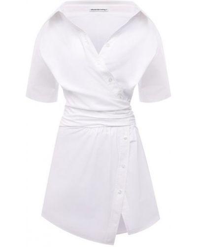 Хлопковое белое платье Alexanderwang.t