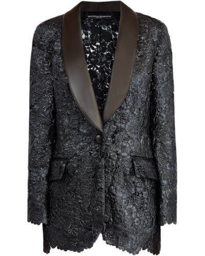 Черный смокинг с декоративной отделкой с карманами Ermanno Scervino