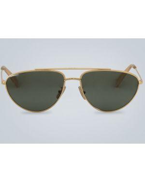 Солнцезащитные очки металлические - зеленые Celine Eyewear