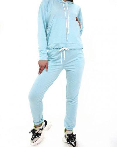 Спортивный костюм с капюшоном - синий Fusion