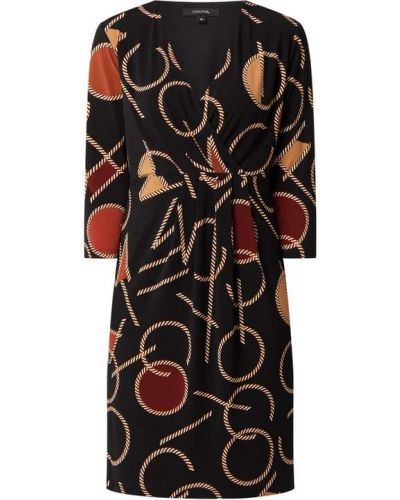 Czarna sukienka z dekoltem w serek Comma