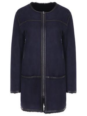 Прямая длинная шуба на молнии с вырезом с карманами Isabel Marant