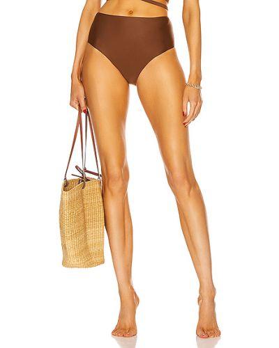 Нейлоновые коричневые бикини с высокой посадкой Matteau