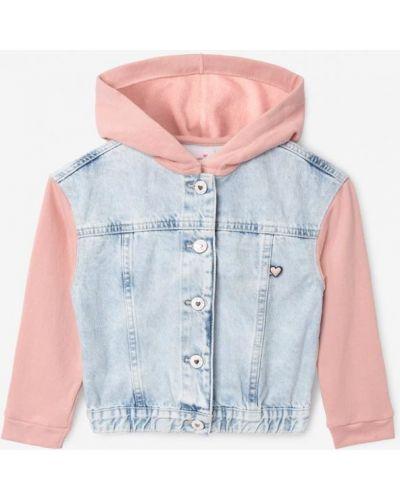 Джинсовая куртка с капюшоном - синяя Gloria Jeans