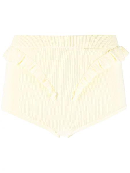 Желтые плавки бикини с высокой посадкой с оборками Sandro Paris