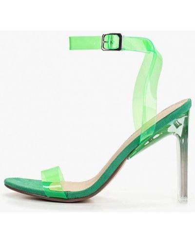 Босоножки на каблуке зеленый Sergio Todzi