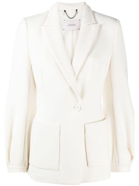 Однобортный белый удлиненный пиджак на пуговицах Dorothee Schumacher