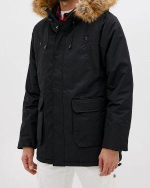 Теплая черная куртка свободного кроя Befree