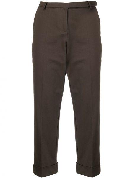 Укороченные брюки зеленый с карманами Antonio Marras